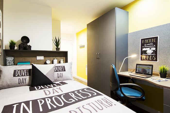 photo de chambre et logement étudiant petit et meubler avec soin avec achat de meuble en ligne