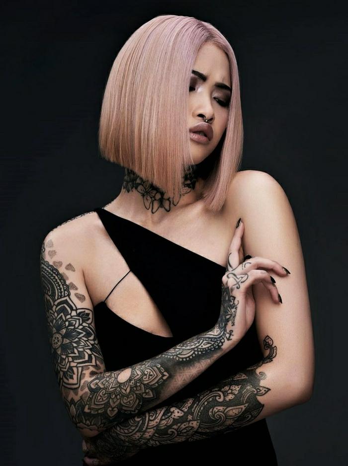 Tatouage commun couple, photo les plus beaux tatouages du monde image, femme cheveux roses