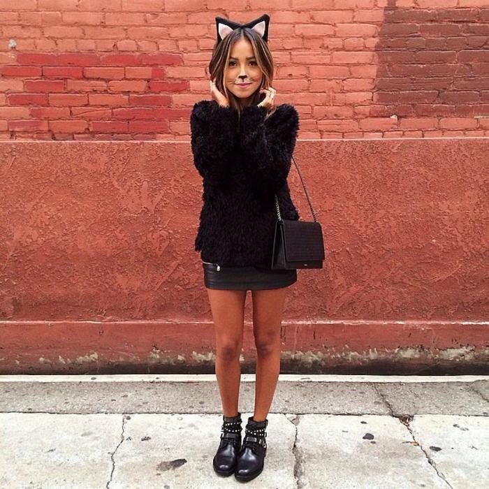 Theme anniversaire adulte, organiser une soirée comment se déguiser pour une soiree, chat noir déguisement original