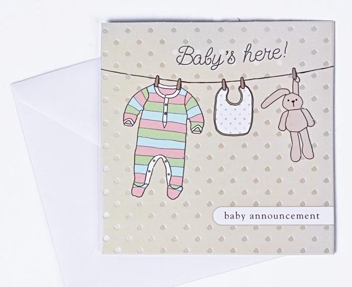 faire-part naissance fait main, annonce bébé par un courrier, modèle carte naissance bébé diy avec dessins mignons