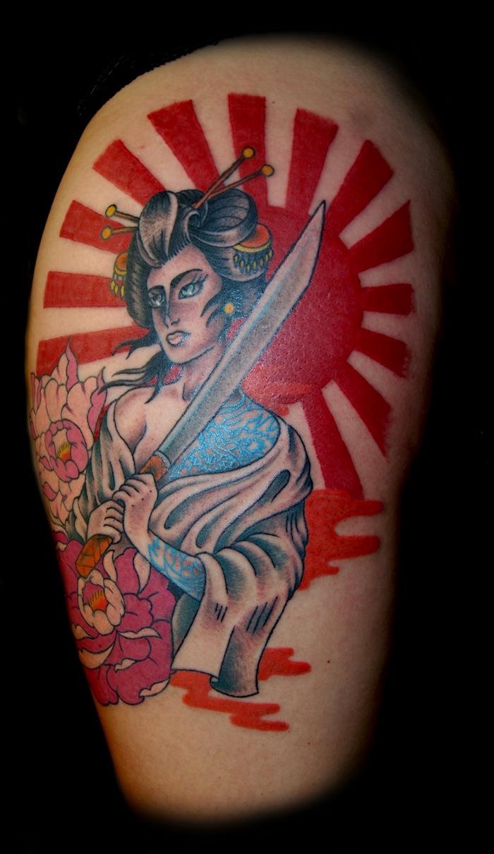Modele tatouage soeur inspiration pour faire le meilleur choix de tatouage art japonais, geisha tatouage