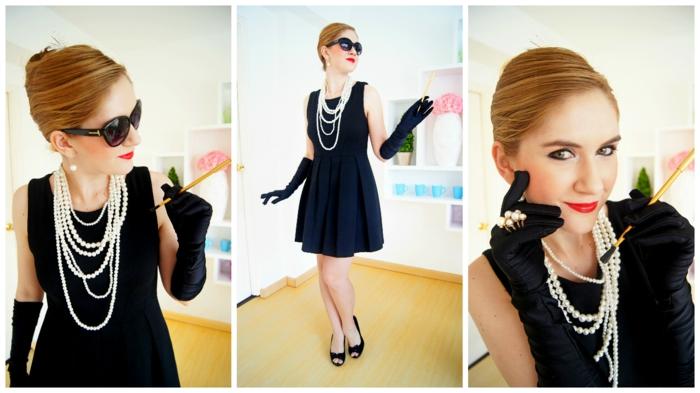Thème déguisement theme de soiree insolite, quelle est la meilleure idee pour se costumer, Audrey hepburn robe noire