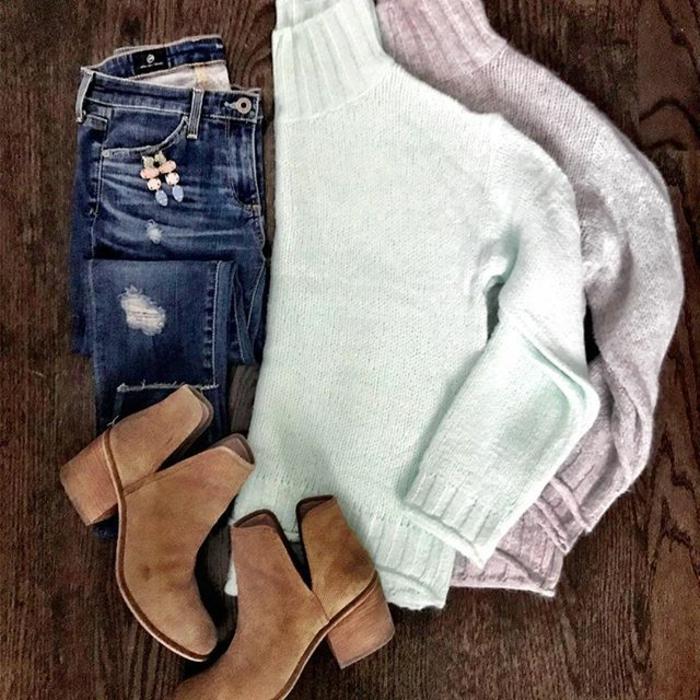 Vetement hippie style boheme chic, tenue boheme chic vetement hippe, pull grande taille et bottines, tenue parfait pour l'automne et l'hiver