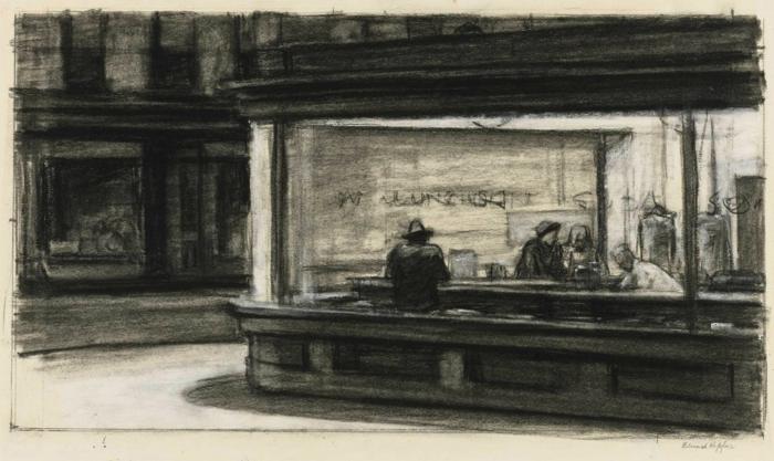Une idée de dessin au fusain, dessin facile a reproduire, idée portrait des personnes inconues aux ombres de la ville, dessin magnifique