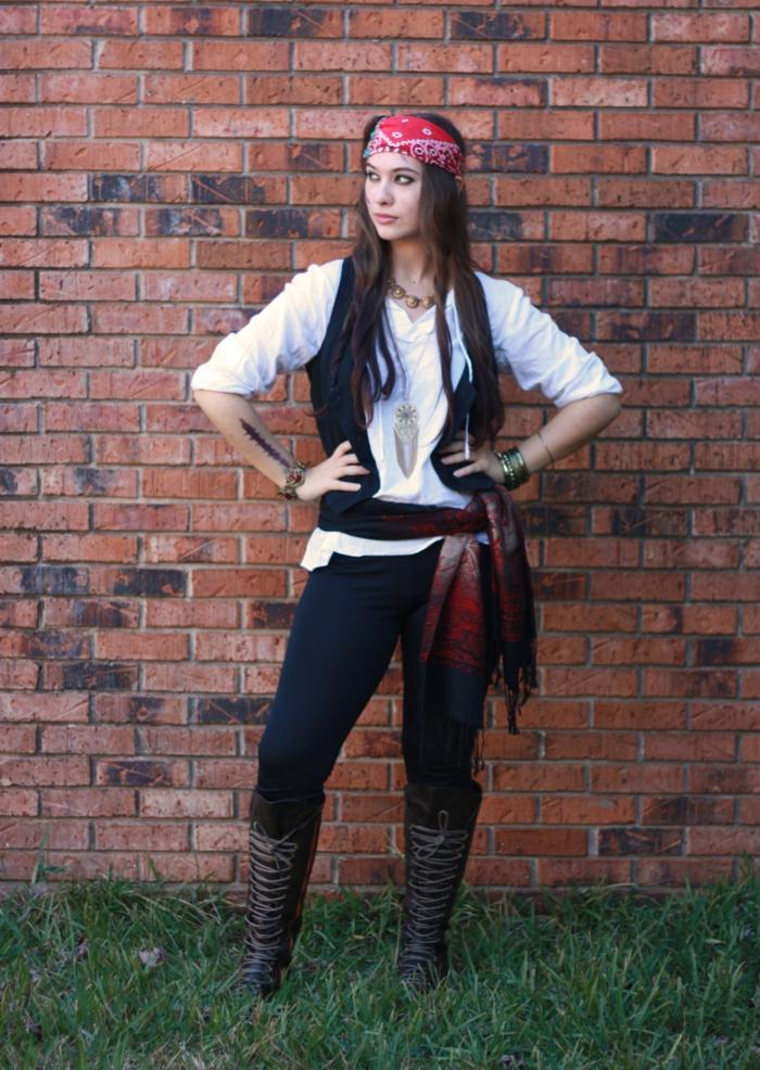 Thème de soirée original, soiree a theme, déguisement pour un thème definit pirate femme