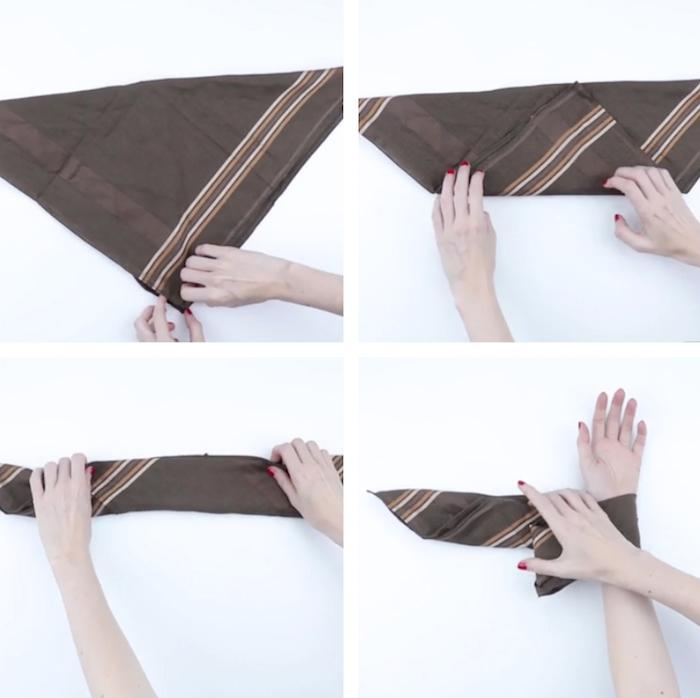 tutoriel pour savoir comment mettre un bandana au poignet et le porter comme un bracelet