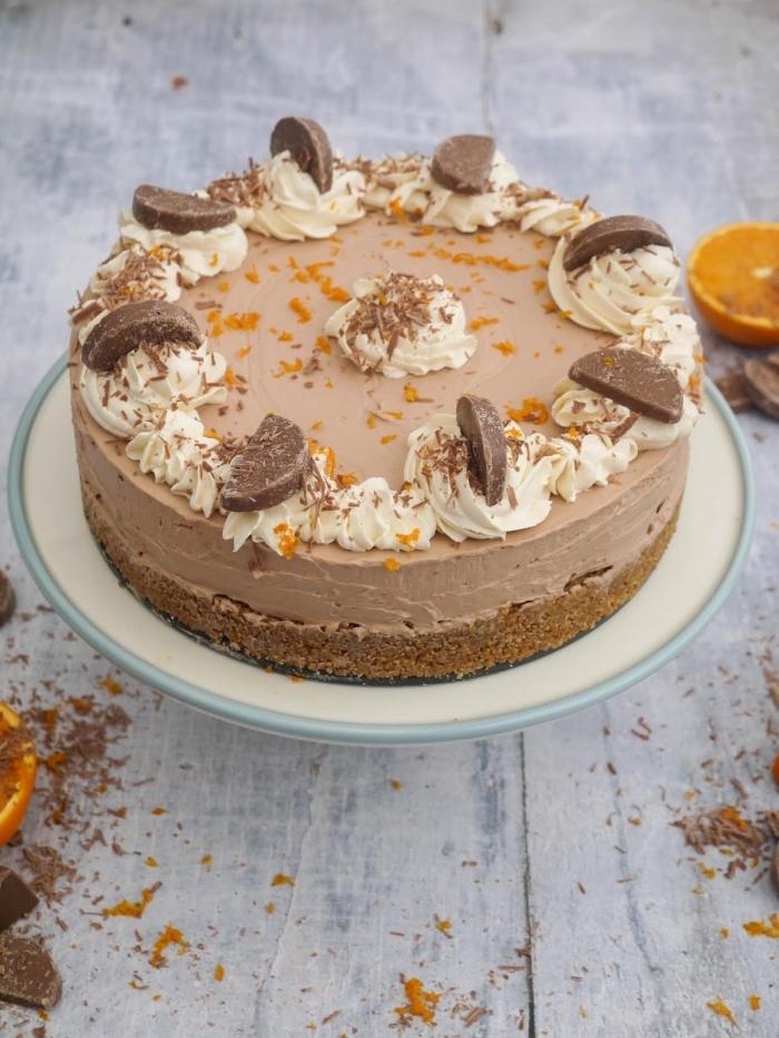 gâteau original au chocolat et à l'orange sans besoin de four, recette cheesecake philadelphia sans cuisson