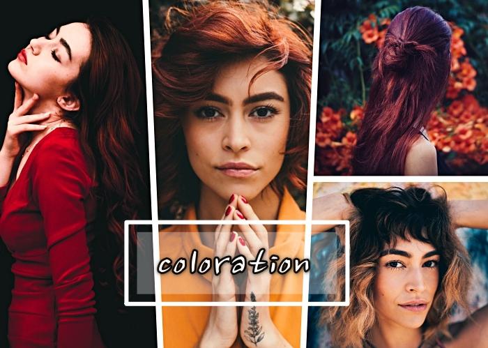 coloration tendance pour la saison automne-hiver 2018, couleur de cheveux rouge ou cuivre, exemple de degrade femme bouclé