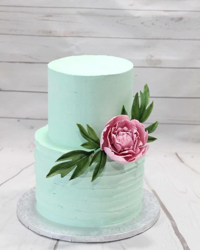 Rose en crème de beurre sur gâteau très simple mais toujours beau, comment choisir le plus beau gateau