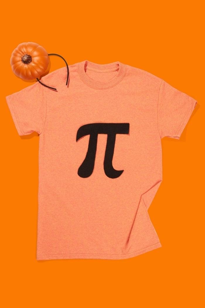 comment transformer un vieux t-shirt en costume Halloween facile, déguisement original pour halloween avec t-shirt citrouille