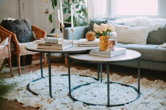 ☆ ▷ 1001 + idées de déco table basse réussie ou comment décorer la table de salon