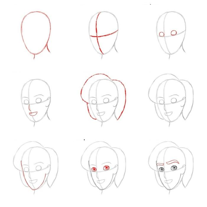 Dessins facile à faire, apprendre à dessiner avec simples lignes pour apprendre le dessin bien