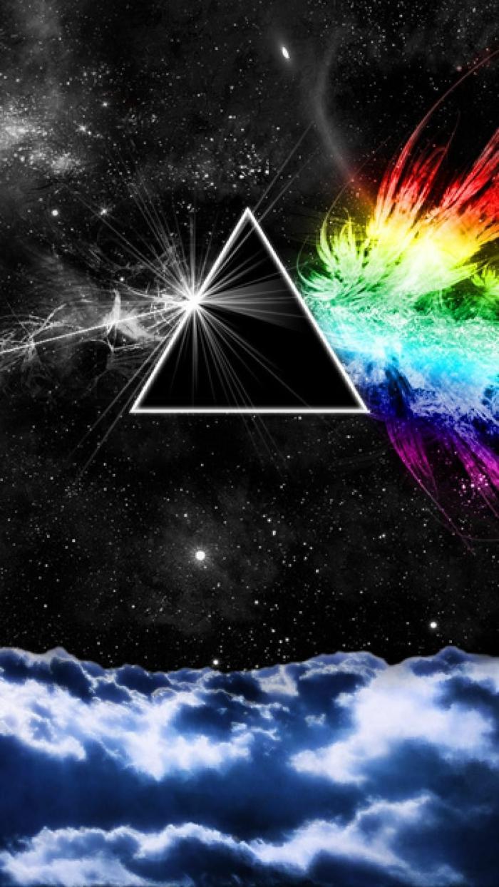 Belle photo fond d écran nike fond d écran stylé arrière plan bureau pink floid inspiration triangle prisme lumière arc en ciel