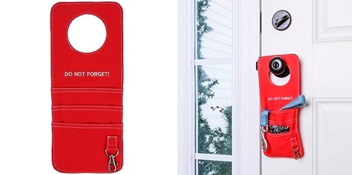 idée cadeau maman, accessoire pratique pour ranger ses clés, cadeau pratique pour noel, organisateur de porte rouge