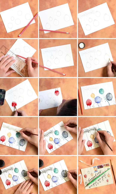 Comment Faire Des Boules En Papier ▷ 1001 + tutos et modèles de carte de noël à fabriquer