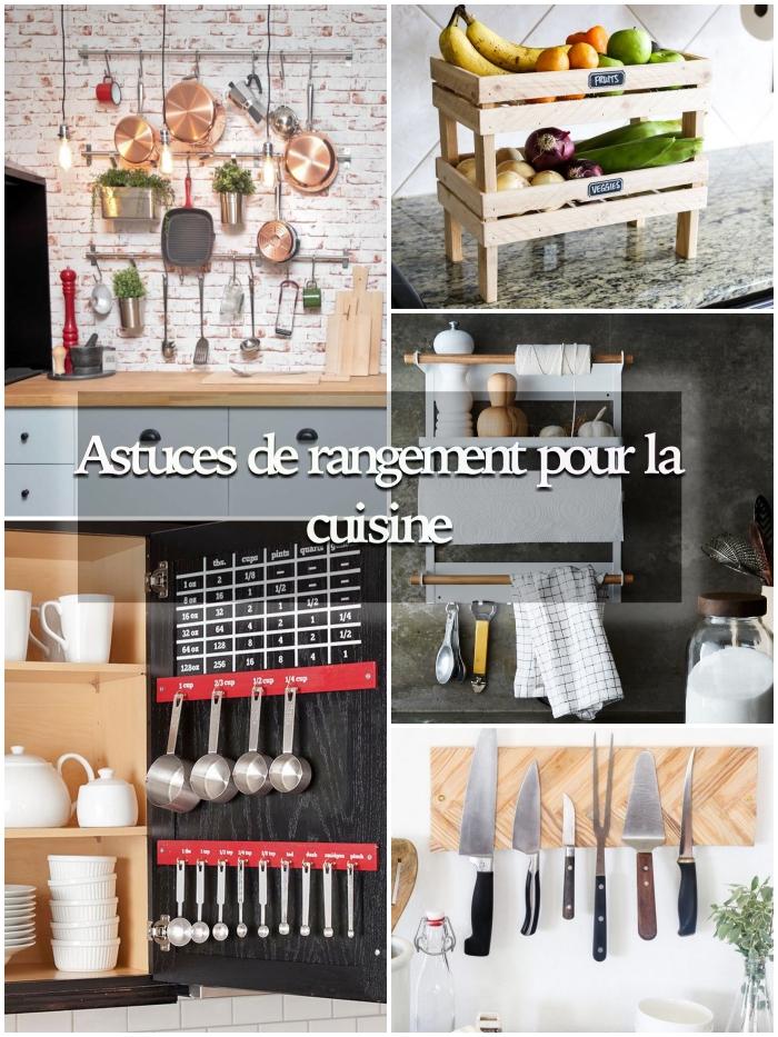astuces rangement cuisine pour mieux organiser ses ustensiles de cuisine et sa vaisselle, idées de rangements fonctionnels dans la cuisine