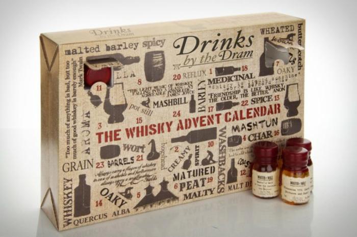 Calendrier de l avent pour femme, idée cadeau calendrier de l avent chaque jour différent whiskey mini bouteille
