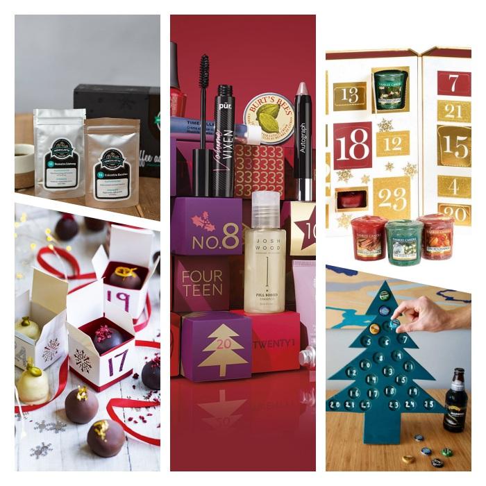 idée de calendrier de l avent beauté, gourmandises, bière, bougies et café, exemples de calendrier à acheter pour compter les jours de noel
