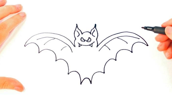 Comment dessiner un chause-souris dessin facile a faire beau dessin simple a faire
