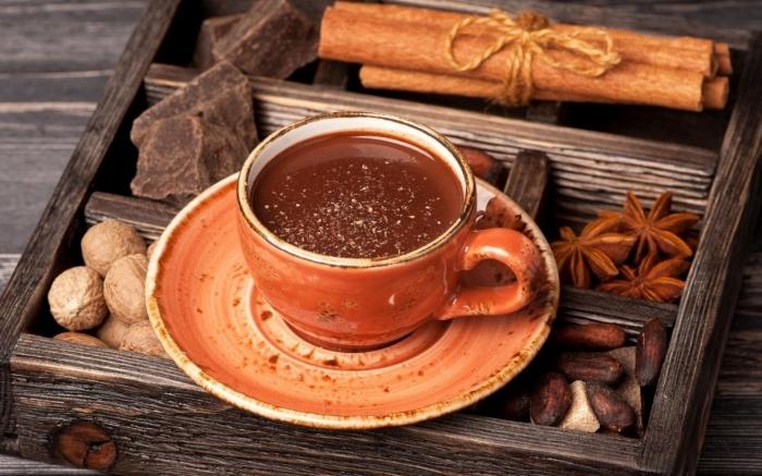 recette chocolat chaud parfumé aux épices, comment préparer un chocolat fondu à la cannelle, idée boisson chaude hiver