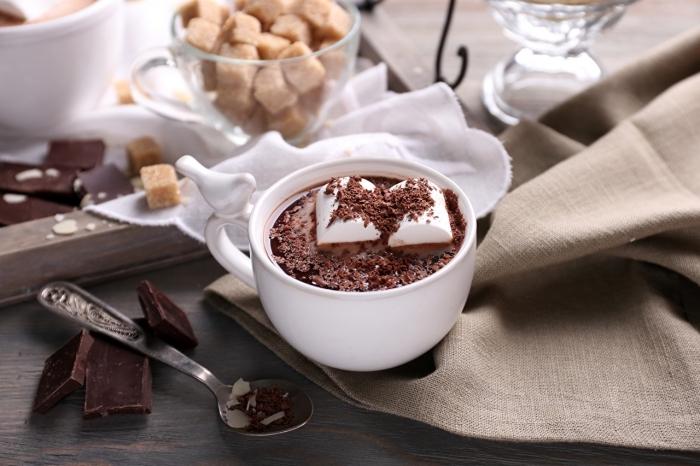 recette chocolat chaud épais, comment préparer une boisson au chocolat fondu et lait, mug tasse de café avec poignée à design oiseau 3D