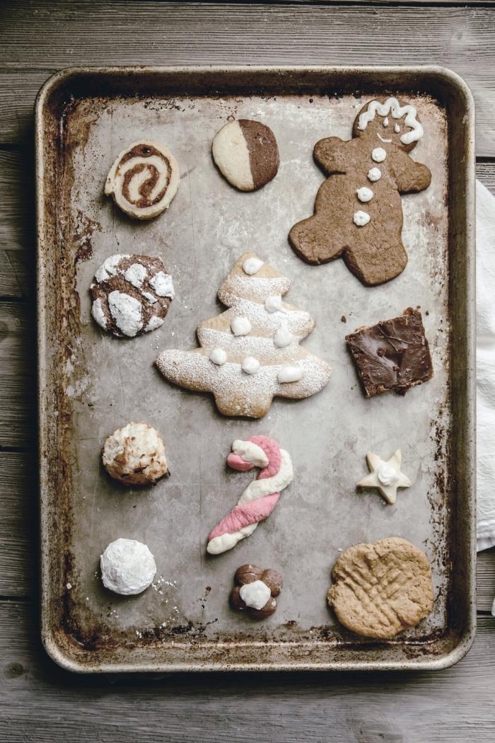 biscuit de noel ultra délicieux à la cannelle et au miel, pâte sucrée pour cookies de noel, biscuit en forme de sapin facile