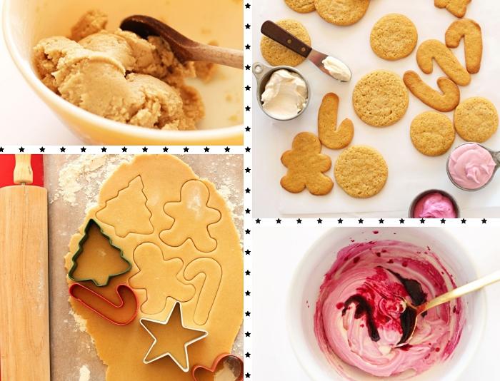 comment préparer une pâte pour bredele de noel vegan, glaçage avec colorant naturel rose en jus de betterave