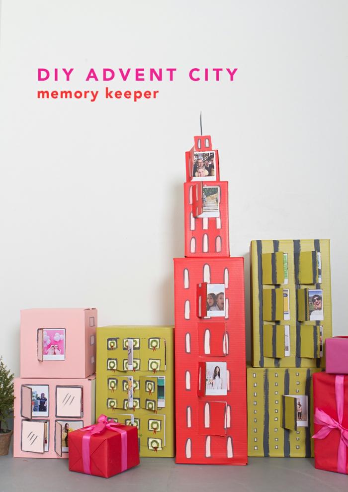 Calendrier de l avent personnalisé idée cadeau pour avant noël activité manuelle blocks de new york avec photo