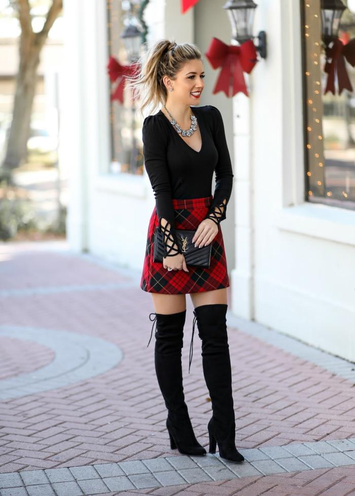 Tenue de noel femme, tenue de fete comment s habiller en hiver pour un jour festif