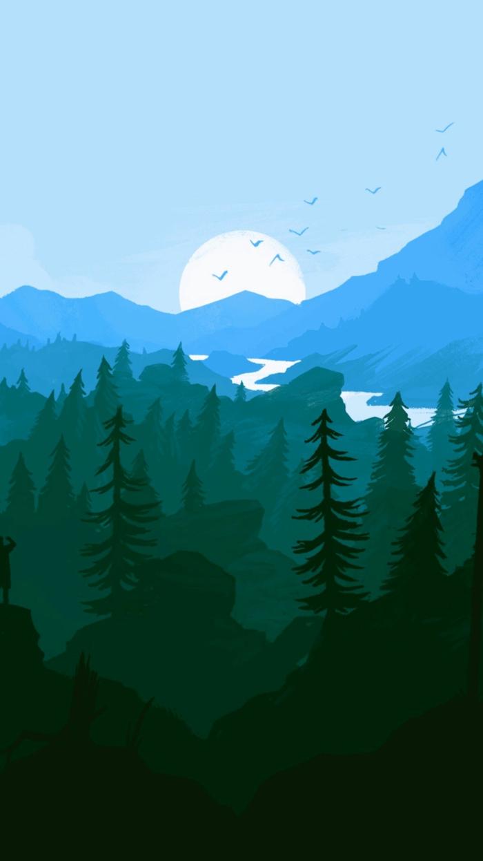 Stylé fond d écran nike les plus beaux fonds d écran pour fille ou pour garçon stylé dessin de montagnes arbres et coucher de soleil