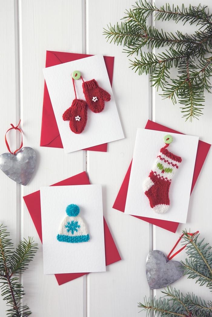 Admirable ▷ 1001 + tutos et modèles de carte de Noël à fabriquer RJ-73