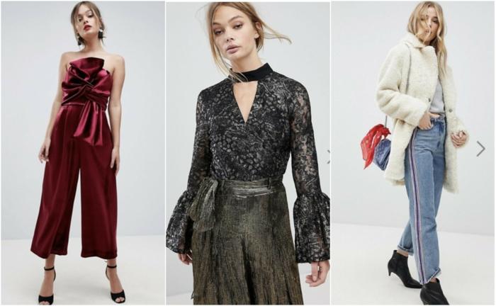 Pull noel famille, tenue décontractée chic femme inspiration tenue noel, trois idées pour la tenue de soirée