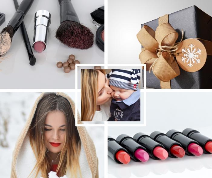 cadeau anniversaire maman, coffret maquillage à lèvre pour Noel, kit de pinceaux et brosses maquillage, accessoires et outils de maquillage,
