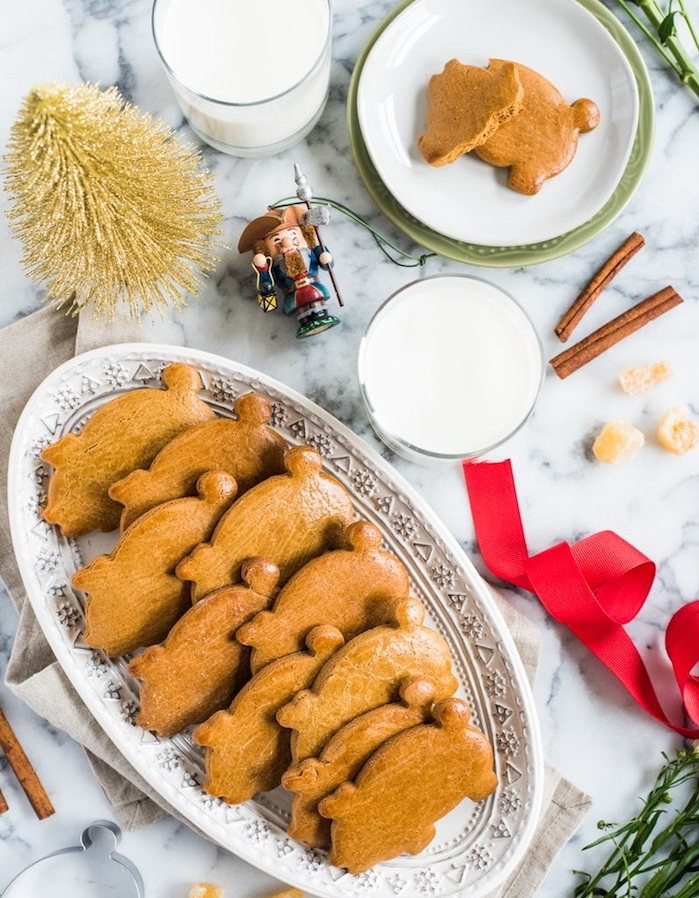 sablés de noel faciles a faire de gingembre en forme de cochon, petit gateau de noel recette simple et rapide
