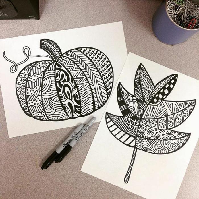 Dessin facile a reproduire par etape, dessin facile a dessiner, cool idée, créer son propre motif dessin magnifique