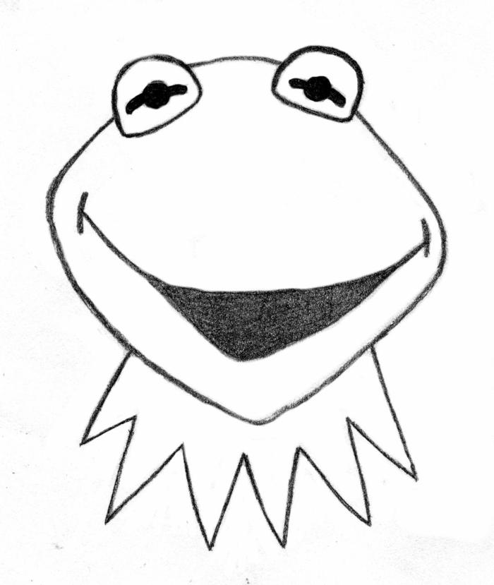 Image dessins facile à faire comment dessiner un objet photo de dessin adorable Kermit the frog