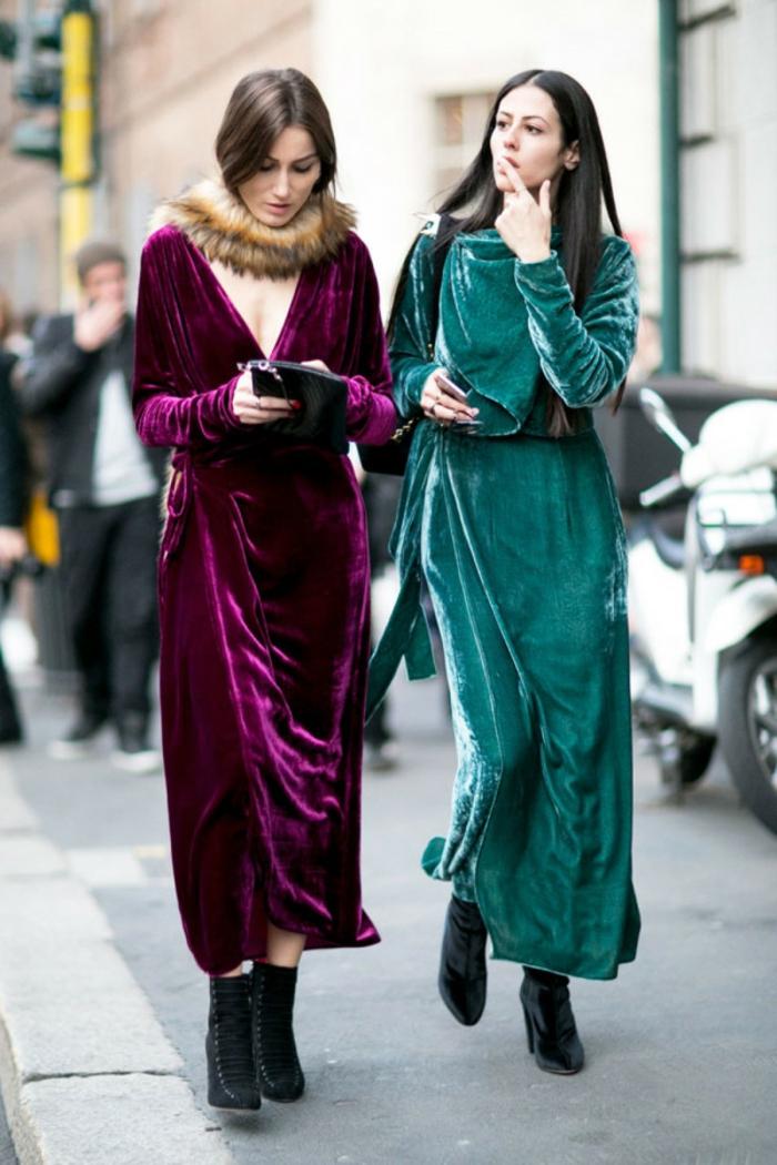 Pull noel famille pull de noel femme, tenue décontractée chic femme, tendances de street style robe longue en velours pour modèle