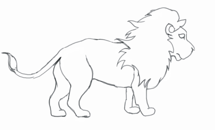 Dessin facile a reproduire, comment dessiner un lion, dessin facile a reproduire par etape beau dessin