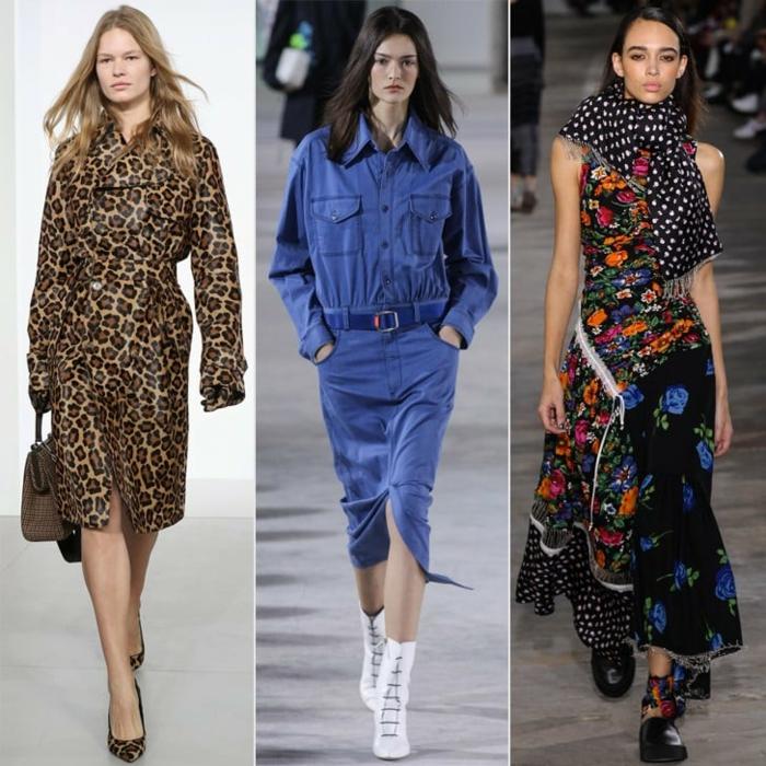 robe longue hiver, prints léopard, escarpins, robe florale, écharpe pointillée, bottines à lacets