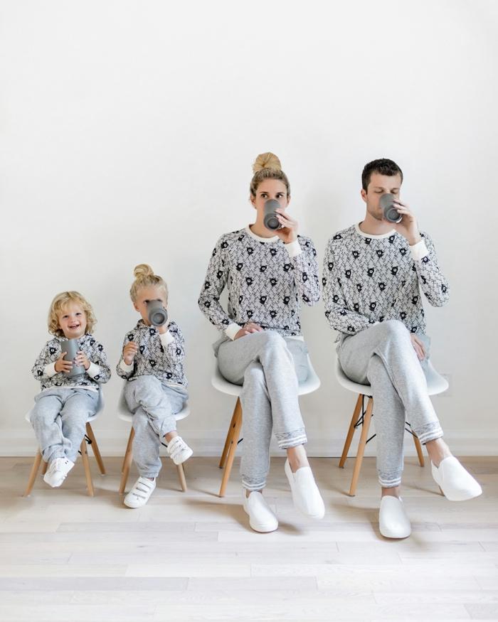 Pyjamas pour noel pour toute la famille, tenue de noël pour femme tenue pour femme jolie idée