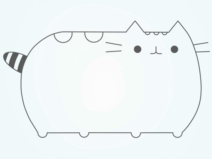 Comment dessiner un chat, pusheens chaton mignon, comment dessiner des animaux pour enfant