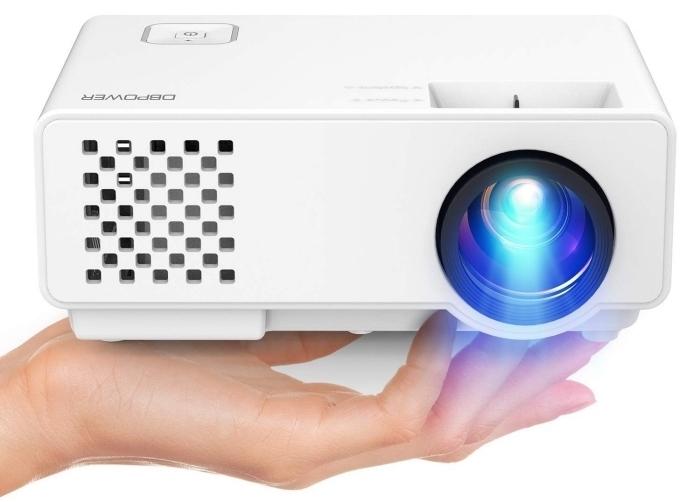 idee cadeau fille, modèle de vidéo projecteur maison, cadeau high-tech pour noel, projecteur portable en blanc