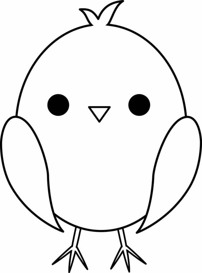 Dessin facile a faire etape par etape ou en simplement suivant les lignes, comment dessiner pour debutant, idee quoi dessiner, oiseau mignon trop petiti