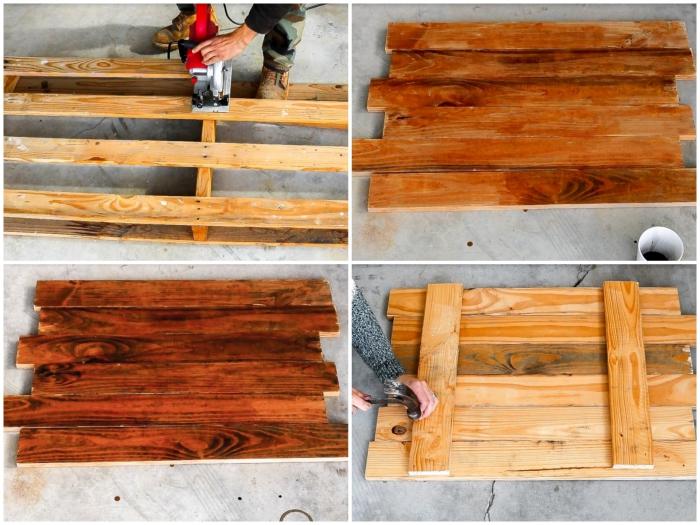 idée originale pour recycler une palette en bois et la transformer en sapin de noel en bois original