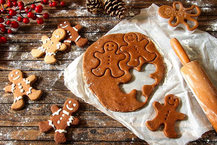 recette pain d'épices, comment faire bonhomme pain d épice recette traditionnelle ou avec du cacao, idee repas de noel, dessert facile et rapide