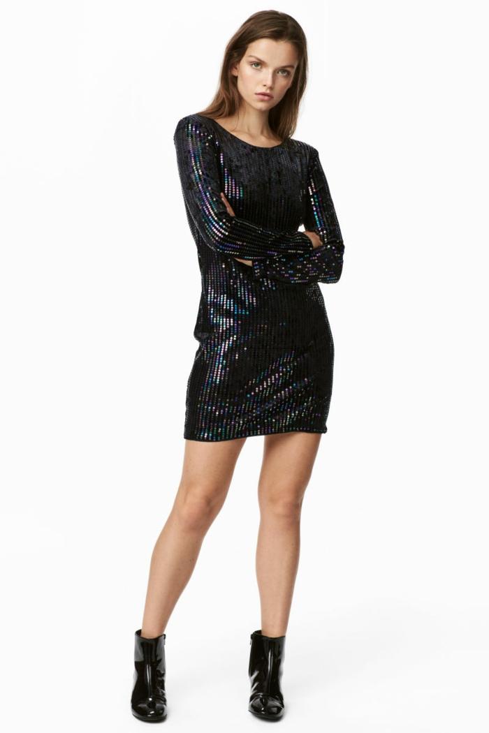 Tenue de noël pour femme, tenue de fete tenue femme à choisir pour le jour de noel, robe courte manche longue