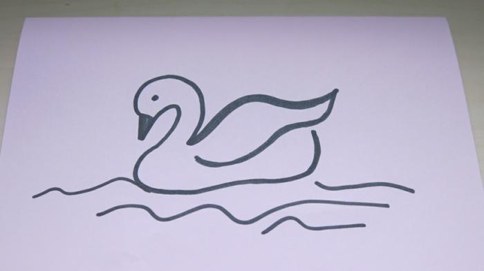 Dessin facile a reproduire par etape, dessin facile a faire, meilleure idee de dessin de signe avec lignes simples