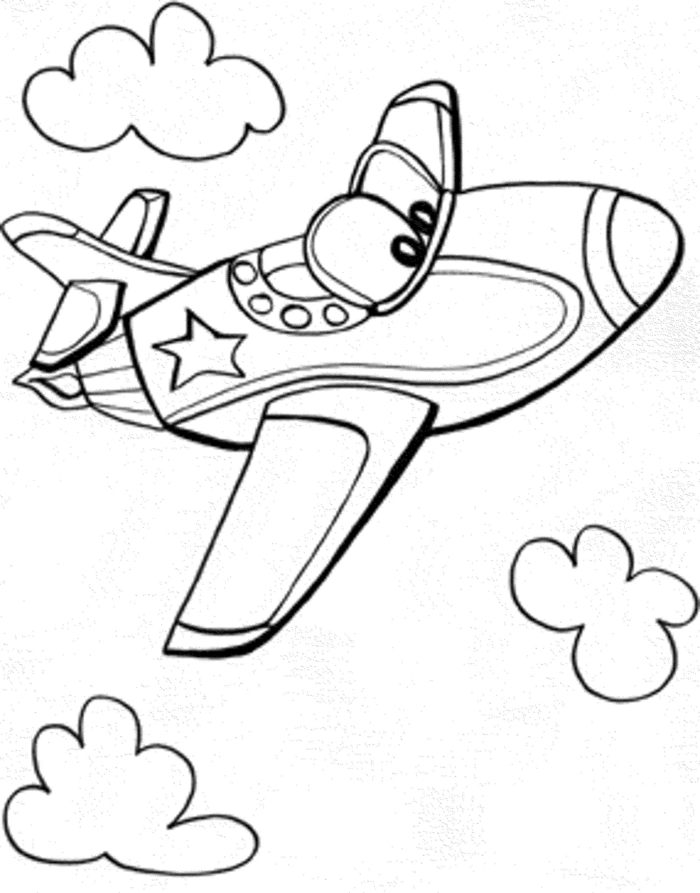 Apprendre a dessiner facilement, avion dessin facile a faire, inspiration pour commencer, image à colorer