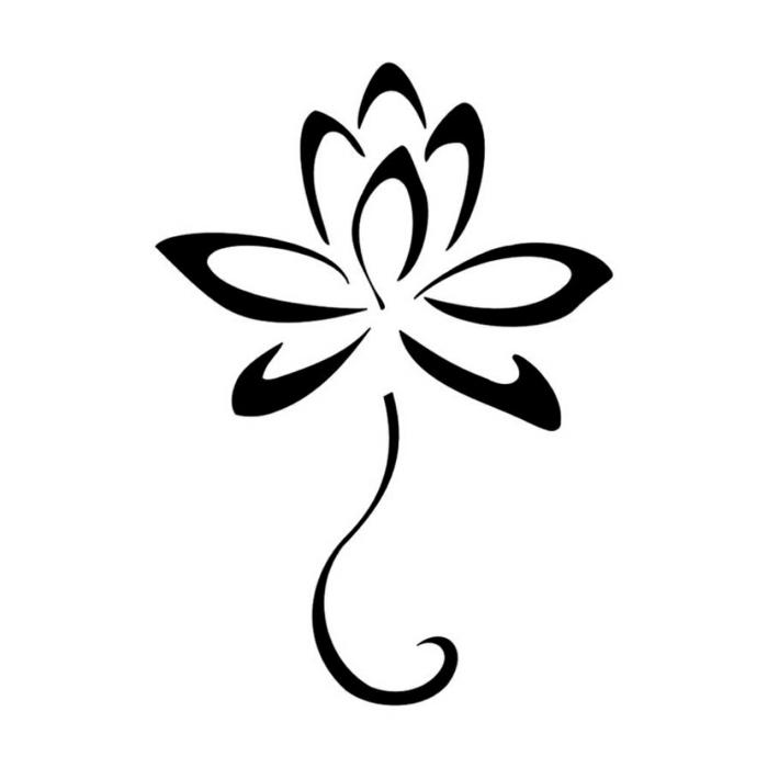 Dessin facile a faire etape par etape, lilie stylisé dessins facile à faire, belle image à utiliser pour tatouage lotus style