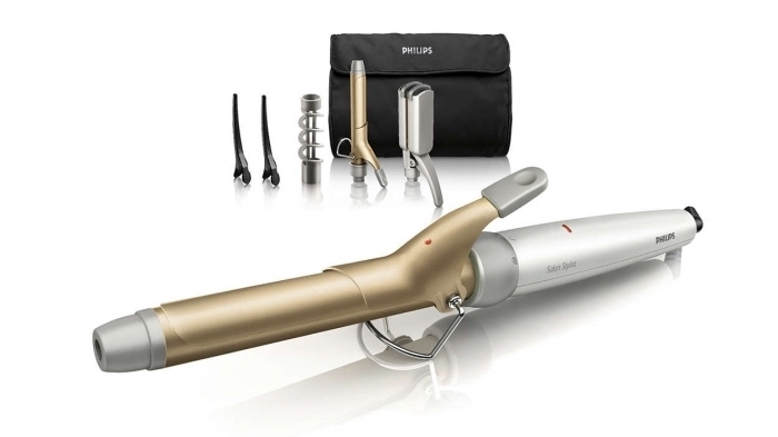 idée cadeau anniversaire maman, kit appareils et outils pour coiffure, coffret Philips avec appareil cheveux multifonctions